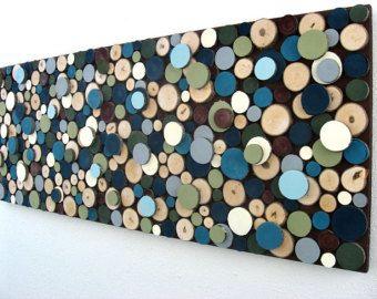 Reserved for Vivian Modern Rustic Painted Wood von ModernRusticArt