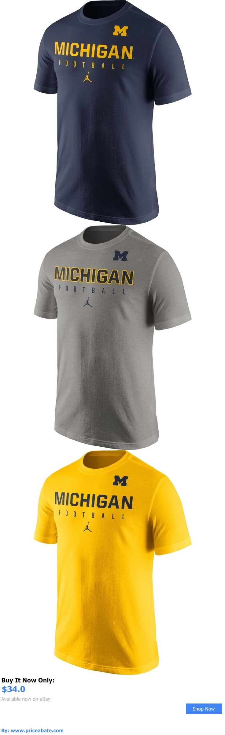 Sports Memorabilia: New Jordan Mens Michigan Wolverines Blue Football Practice T-Shirt BUY IT NOW ONLY: $34.0 #priceabateSportsMemorabilia OR #priceabate