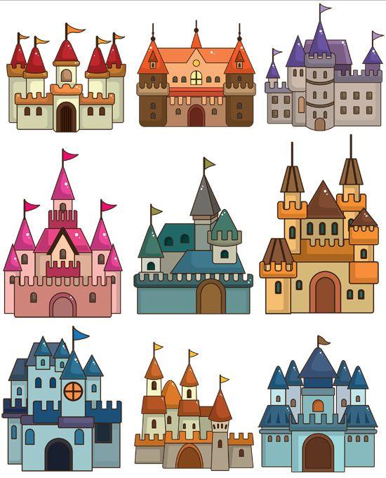 Grafika átlátszó háttérrel - vár, kastély