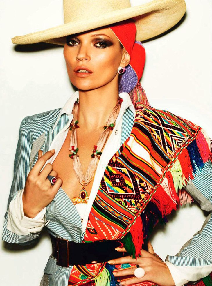 Kate Moss shot by Mario Testino for Vogue Paris April 2013