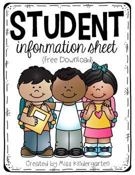 Student Information Sheet {freebie}