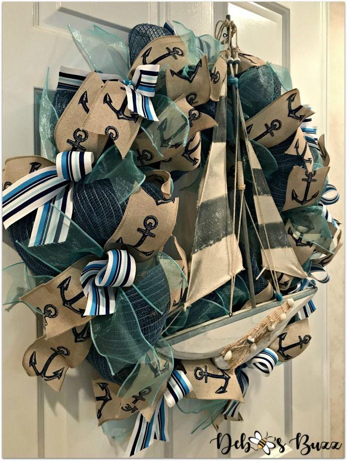 Diy Nautical Sailboat Wreath Raise Anchor Nautical Wreath