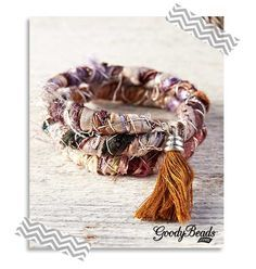 How to Use Silk Ribbon in Jewelry - Tutorial on how to make this bracelet using memory wire and silk ribbon or a variation of fibers.