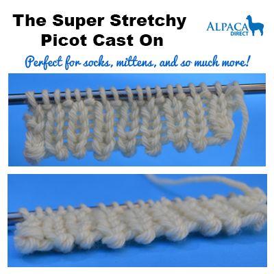 #FixitFriday at Alpaca Direct! The Super Stretchy Picot Cast On! http://blog.alpacadirect.com/2014/03/super-stretchy-picot-cast/