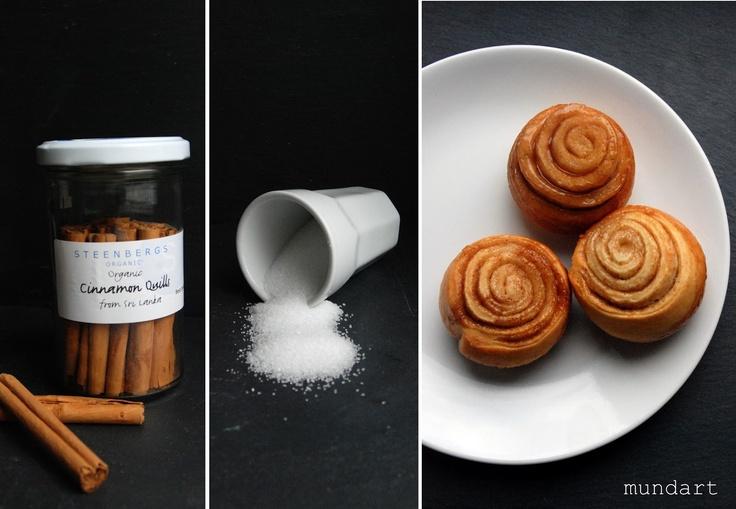 Zimtschnecken (auch mit Apfel-Stücken lecker)