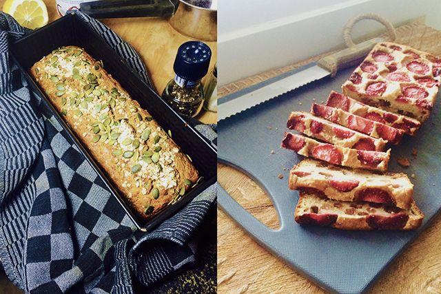 twee keer bananenbrood recept, glutenvrij brood bakken, bananenbrood met fruit, bananenbrood naturel recept, haverbrood receptkopie