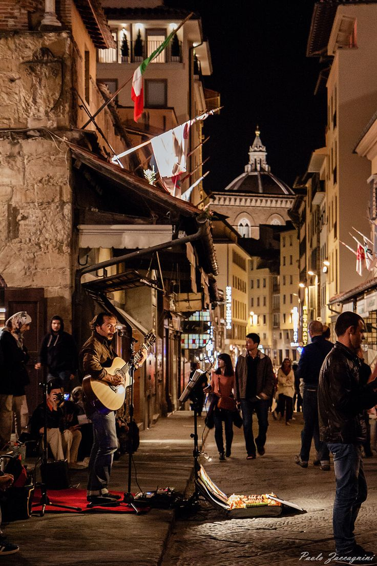 Music on Ponte Vecchio, Florence