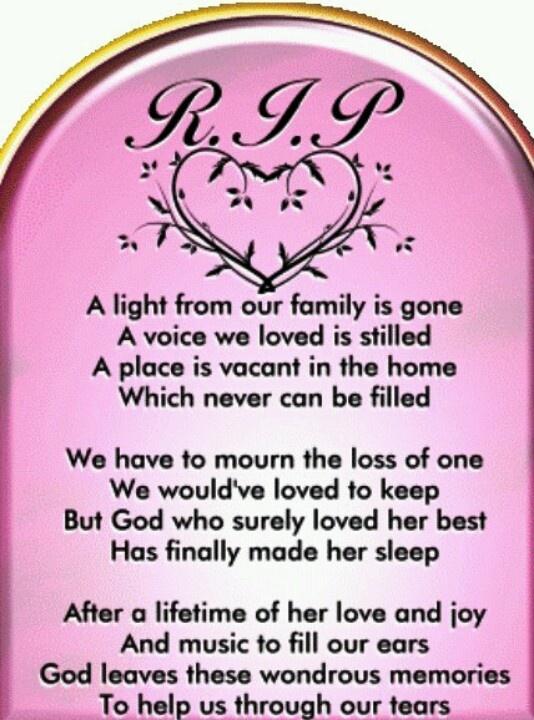 In memory of my sister & mom......