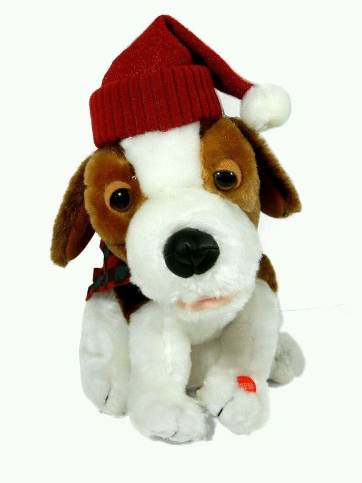 Pan Asian Creations Stuffed Plush Christmas Dancing Singing Beagle Hound Dog #PanAsianCreations