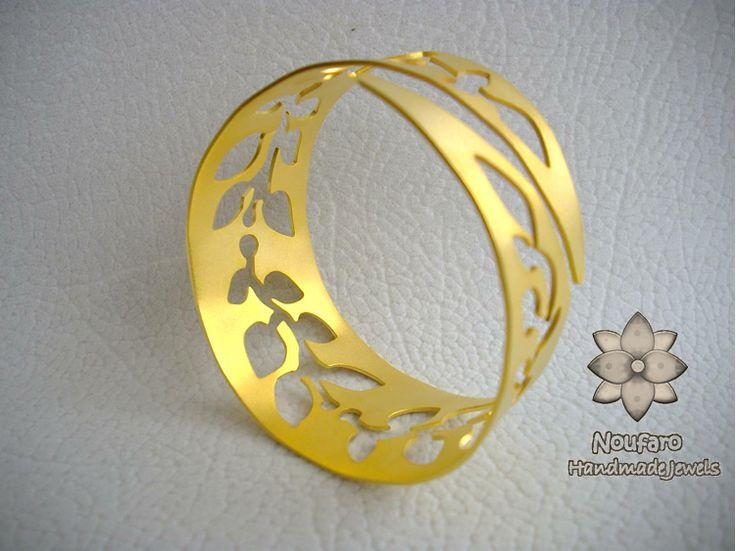 Gold-plated Brass made by Noufaro Handmade Jewels