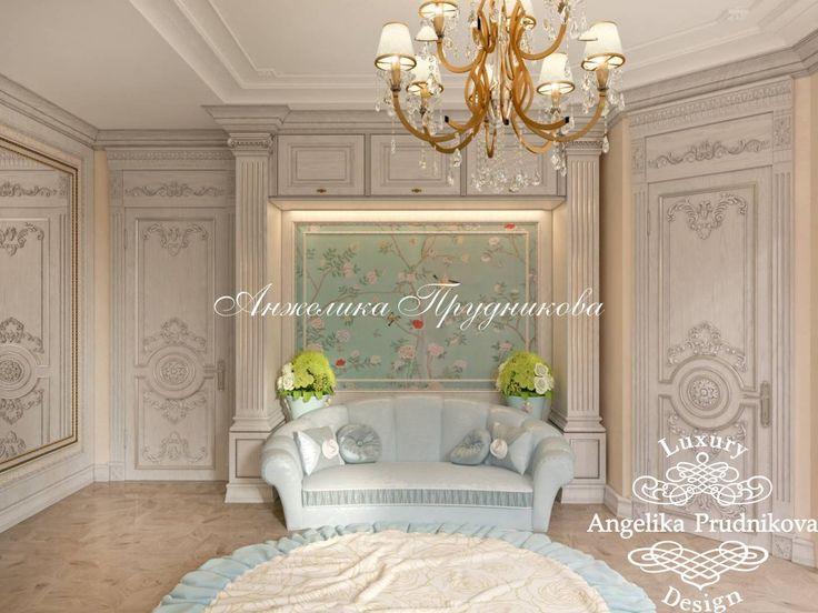 Дизайн детской спальни в классическом стиле в доме в Жуковке - фото