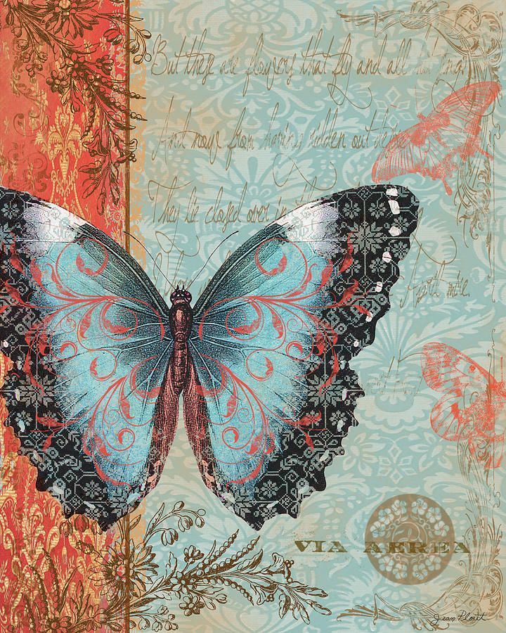 Butterfly 2 Printable modpodge or scrapbooking