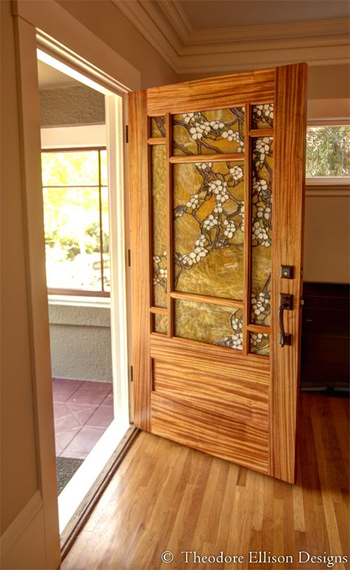 Dogwood Door by Theodore Ellison Designs and The Craftsman Door Company : ellison doors - pezcame.com