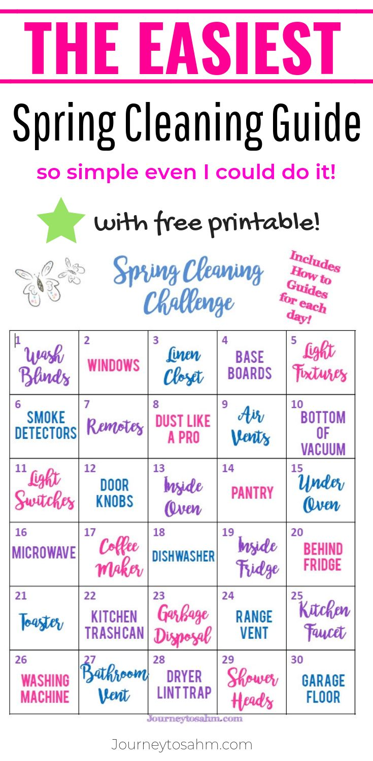 Spring Cleaning Tips Check Lists