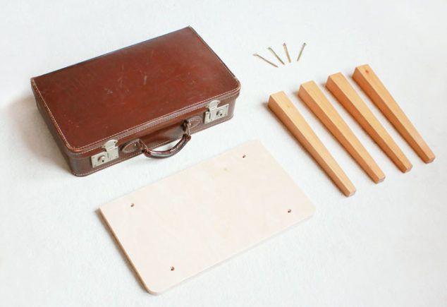 Diy Koffertisch Selber Bauen Schminktisch Im Vintage Koffer