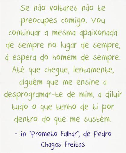 """Pedro Chagas Freitas in, """"Prometo Falhar"""""""