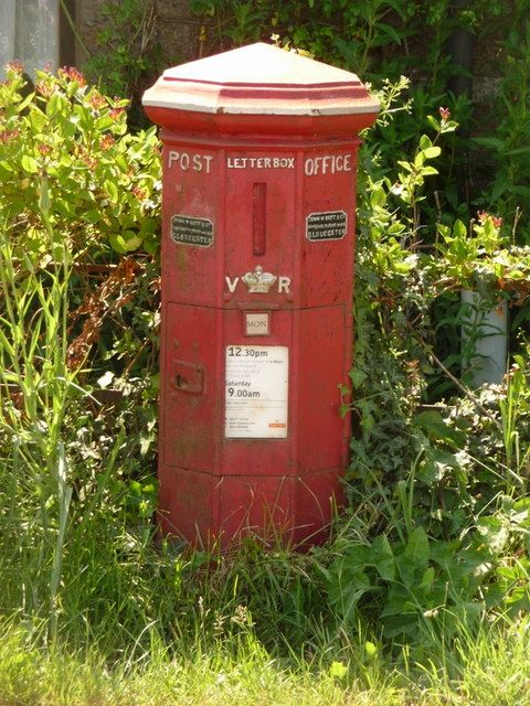 The oldest post box still in service in England is at, Barnes Cross, Bishop's Caundle, Dorset, England. 1853