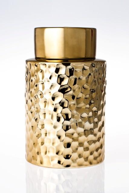 Gold Porcelain Pot 30cm  www.eventsandtents.co.za