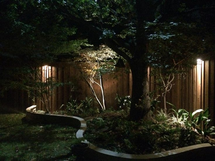 17 Best Images About Fence Step U0026 Wall Lighting Installation By Dallas Landscape Lighting On ...