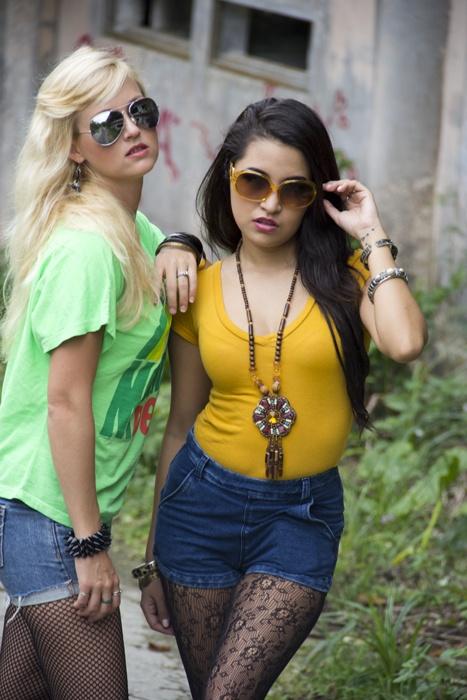 Ros Alainn photography Model: Reiko and Leia urban grunge hipster fashion