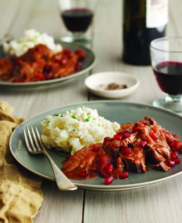 ... Slow-Cooker Brisket with Pomegranate, Red Wine, and Caramelized Onions