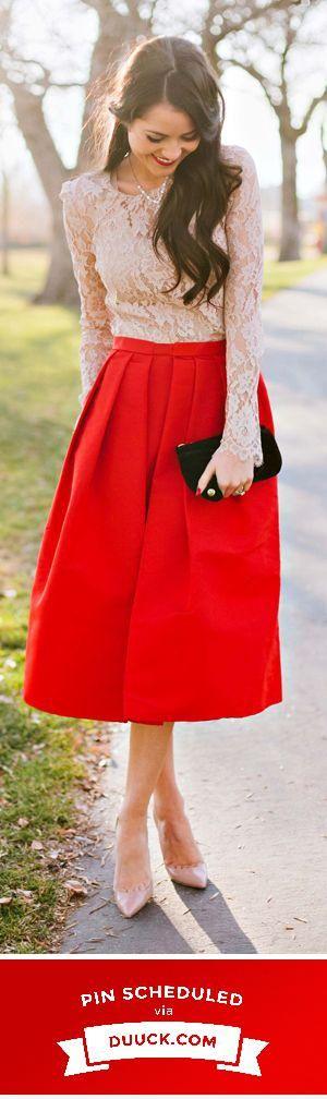 Red Midi Lace <3