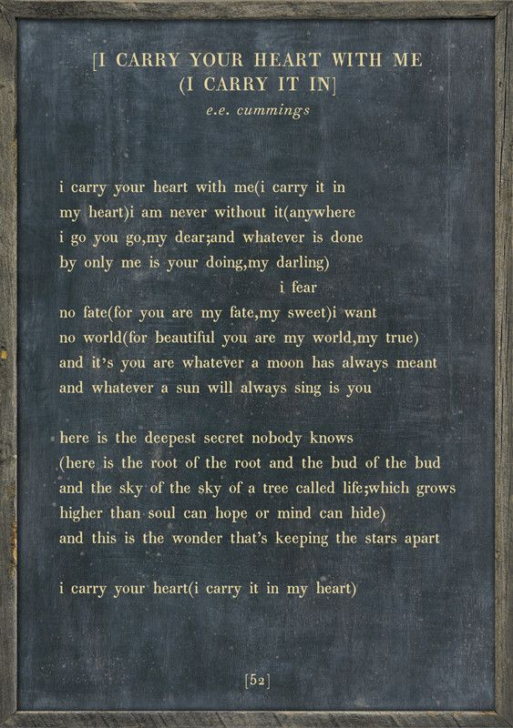 i carry your heart - Poetry Collection