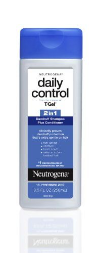 Neutrogena T/Gel Daily Control 2-in-1 Dandruff Shampoo Plus Conditioner, 8.5 Fluid Ounce  //Price: $ & FREE Shipping //     #hair #curles #style #haircare #shampoo #makeup #elixir