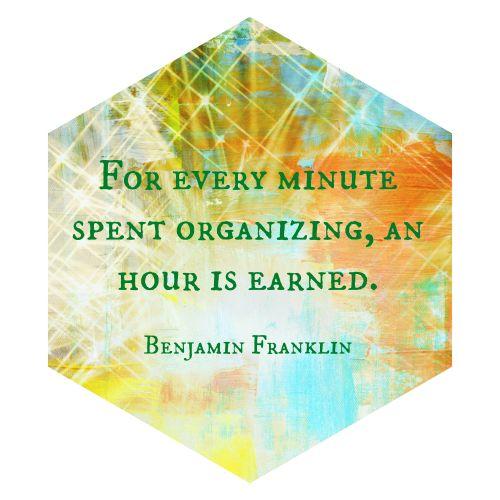 Take Time to Organize