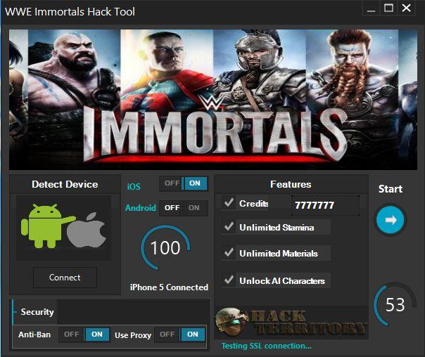 Si vous cherchez un outil qui est WWE Immortels Hack .