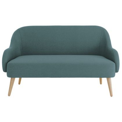 Habitat Momo Fabric 2 Seater Sofa - Teal Blue at Homebase -- Be inspired and make your house a home. Buy now.