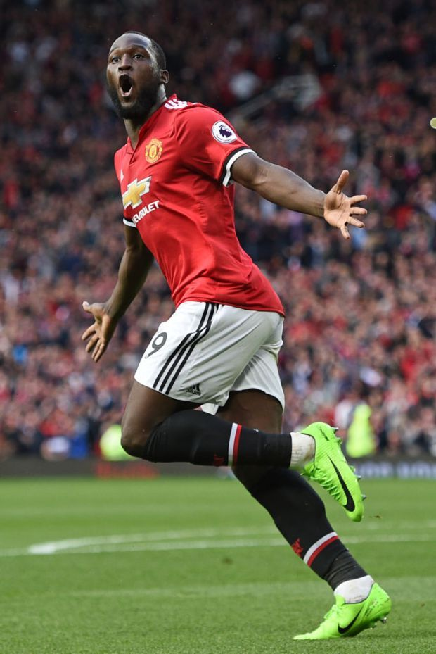 Romelu Lukaku of Man Utd in 2017.