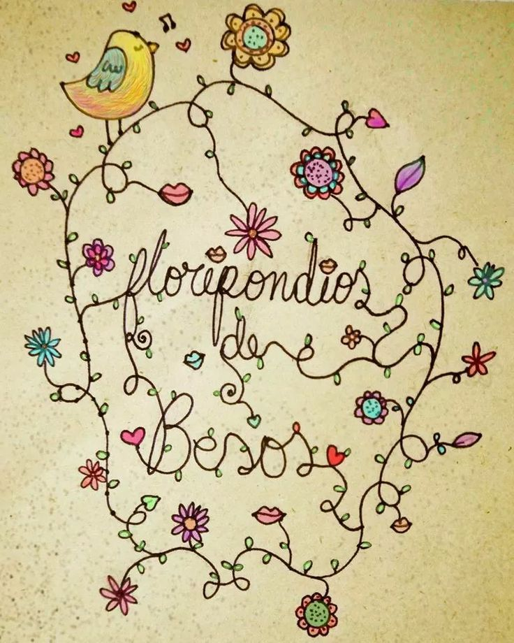 ¡Flores, besos y colores!