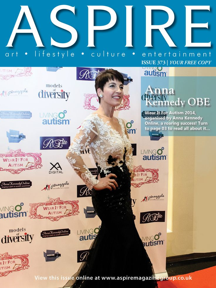 On the front of Aspire Magazine this month. Already planning for next years Wear it for Autism Charity fashion show,