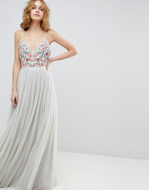 fcde39065bb Needle   Thread Cami Strap Maxi Dress with Open Back in 2019