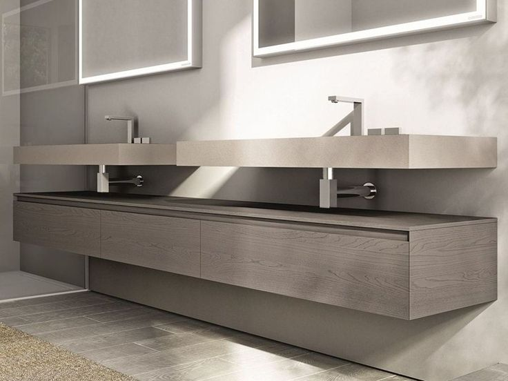 DOUBLE VANITY UNIT CUBIK COLLECTION BY IDEAGROUP49 best Bad   Waschtischunterbau images on Pinterest   Vanity  . Double Vanity Units For Bathrooms. Home Design Ideas