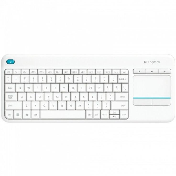 Tastatura wireless Logitech K400 Plus Touch pad Alb