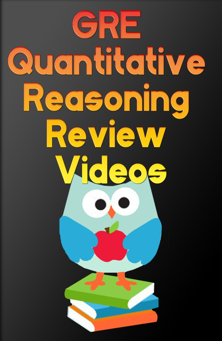 http://www.mometrix.com/academy/gre-quantitative-reasoning/ If you're preparing for the GRE, be sure to take a look at these GRE Quantitative Reasoning Review Videos to help you prepare for your exam.