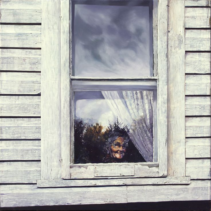 mary at the window*  oil on panel  36in (91.44 cm) x 36in (91.44cm)