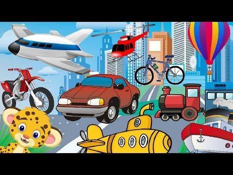 Adivinanzas para niños de los medios de transporte - YouTube