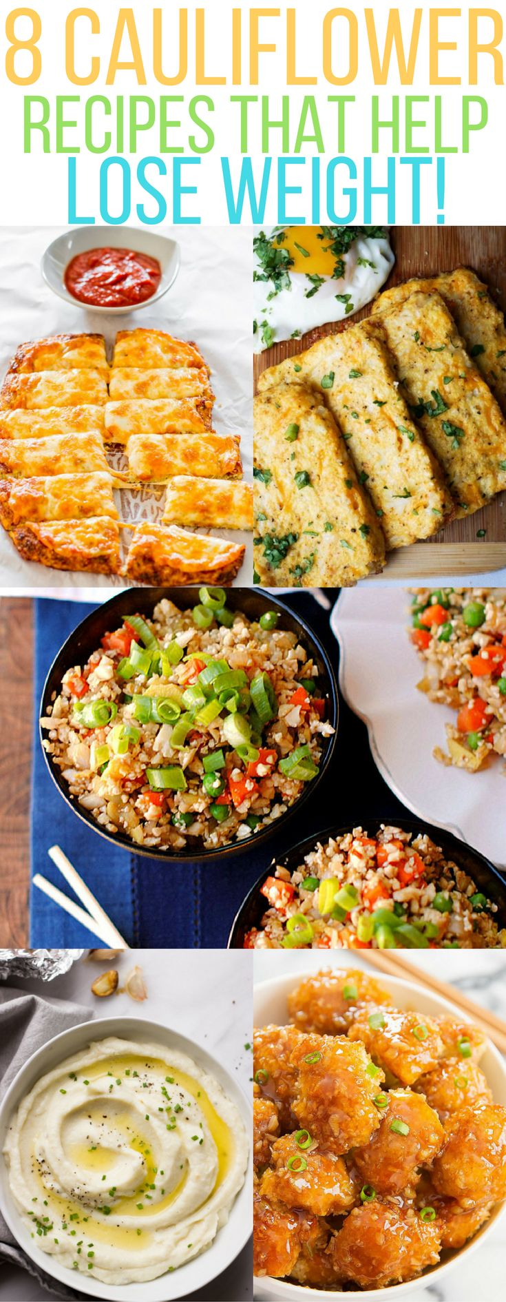 cauliflower recipes |low carb meals | cauliflower rice | cauliflower pizza | cauliflower fried rice | cauliflower mashed potatoes| Cauliflower lose weight | cauliflower kid meals | healthy meals |vegan meals |Cauliflower breadsticks | cauliflower muffins