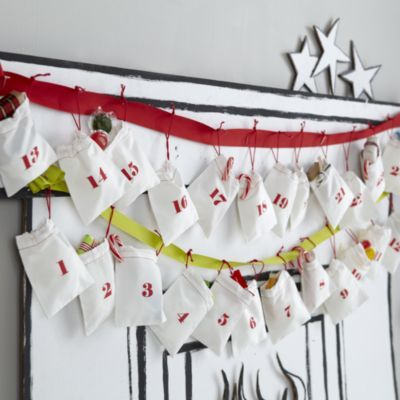 Christmas Countdown Goodie Bags (White)  | The Land of Nod