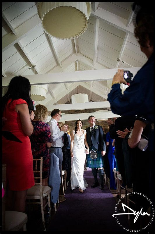Wedding ceremony at Ballymagarvey Village - Photograph by Dylan McBurney