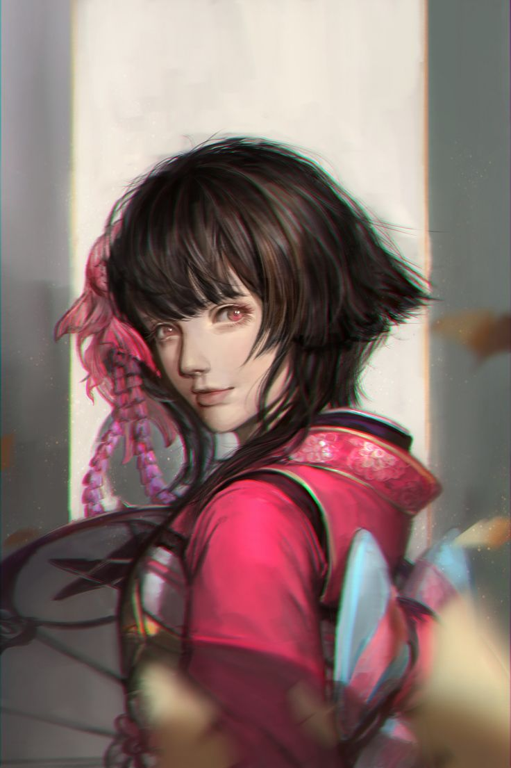 神乐, Li zi on ArtStation at https://www.artstation.com/artwork/8Z4VG