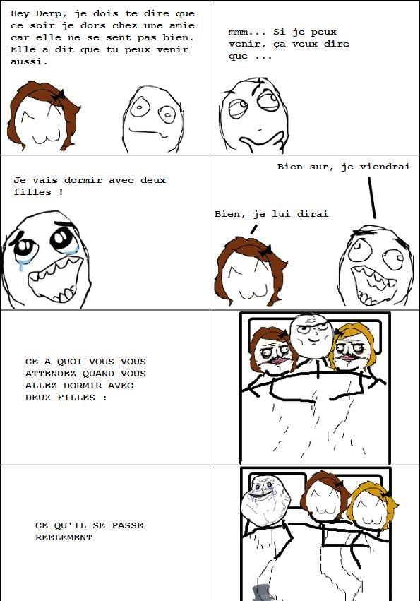 Dormir avec 2 filles