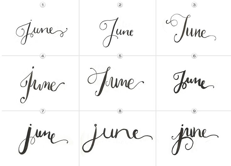 Vote now for your favourite june lettering on the