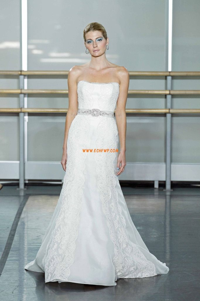 Strapless Lace Glamorous & Dramatic Wedding Dresses 2014
