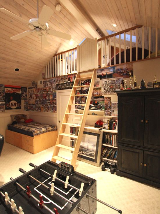 Traditional Bedroom Teen Boy Sport Rooms Design, Pictures, Remodel, Decor and Ideas - page 3