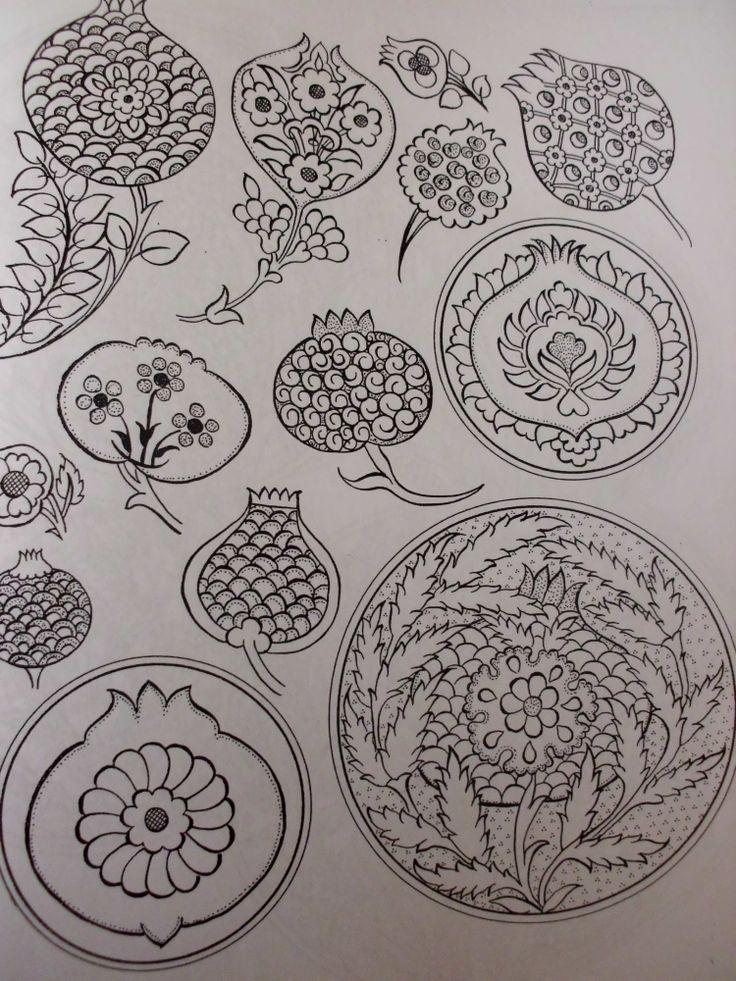 pomagranate motifs