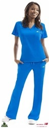 New Balance 365 Scrub Pants. Missy flared pant with two slash pockets on hips. Pant features elastic in the back, drawstring in the front and has vents on both leg openings. #scrubs.com
